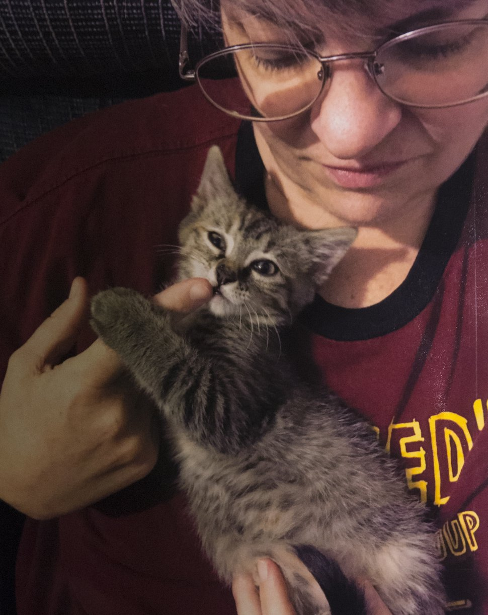 (Photo courtesy of Valerie Brantzeg's family) Valerie Sue Brantzeg, killed on Aug. 22 in Millcreek, loved animals and used to foster kittens, family members said at a press conference Friday, Sept. 7. Charges against Brantzeg's estranged husband, Walter Brantzeg, were formally announced.