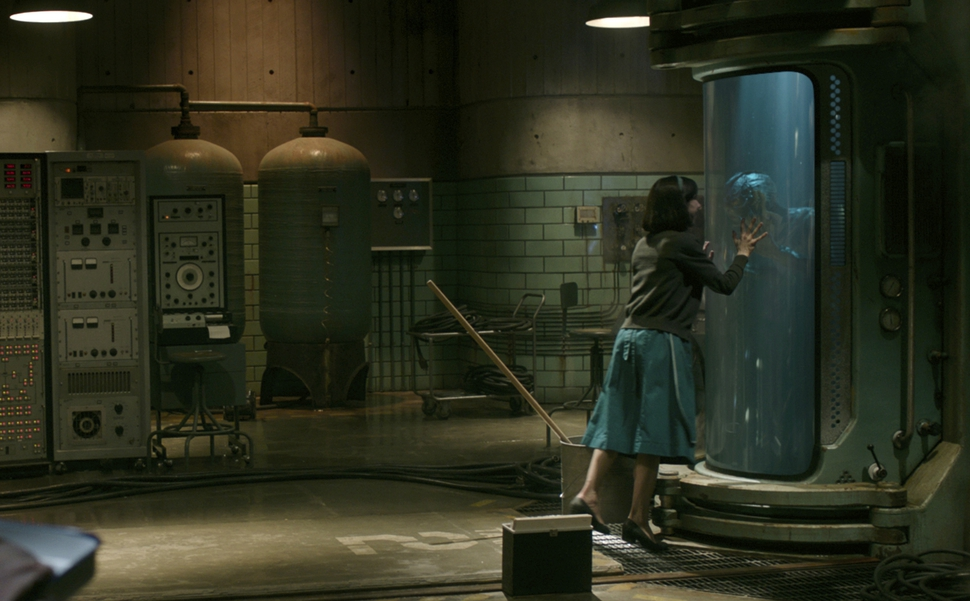 This image released by Fox Searchlight Pictures shows Sally Hawkins and Doug Jones in a scene from the film The Shape of Water. (Fox Searchlight Pictures via AP)