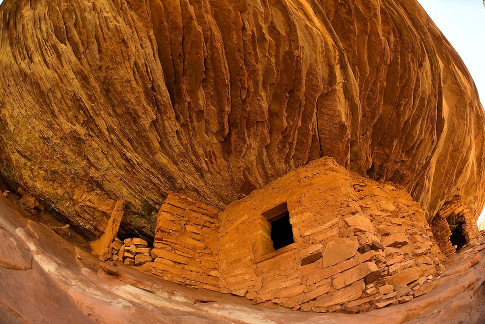 (Katherine Frey | The Washington Post) These 800-year-old Ancestral Pueblo ruins are known as House on Fire for the smoldering color of their sandstone.
