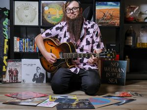 (Leah Hogsten  |  The Salt Lake Tribune) With bands no longer able to tour due to the pandemic, local musician Nick Passey, from the band Folk Hogan, decided that he could help them generate a little additional income by selling their records via Record Spread, a monthly music subscription service.