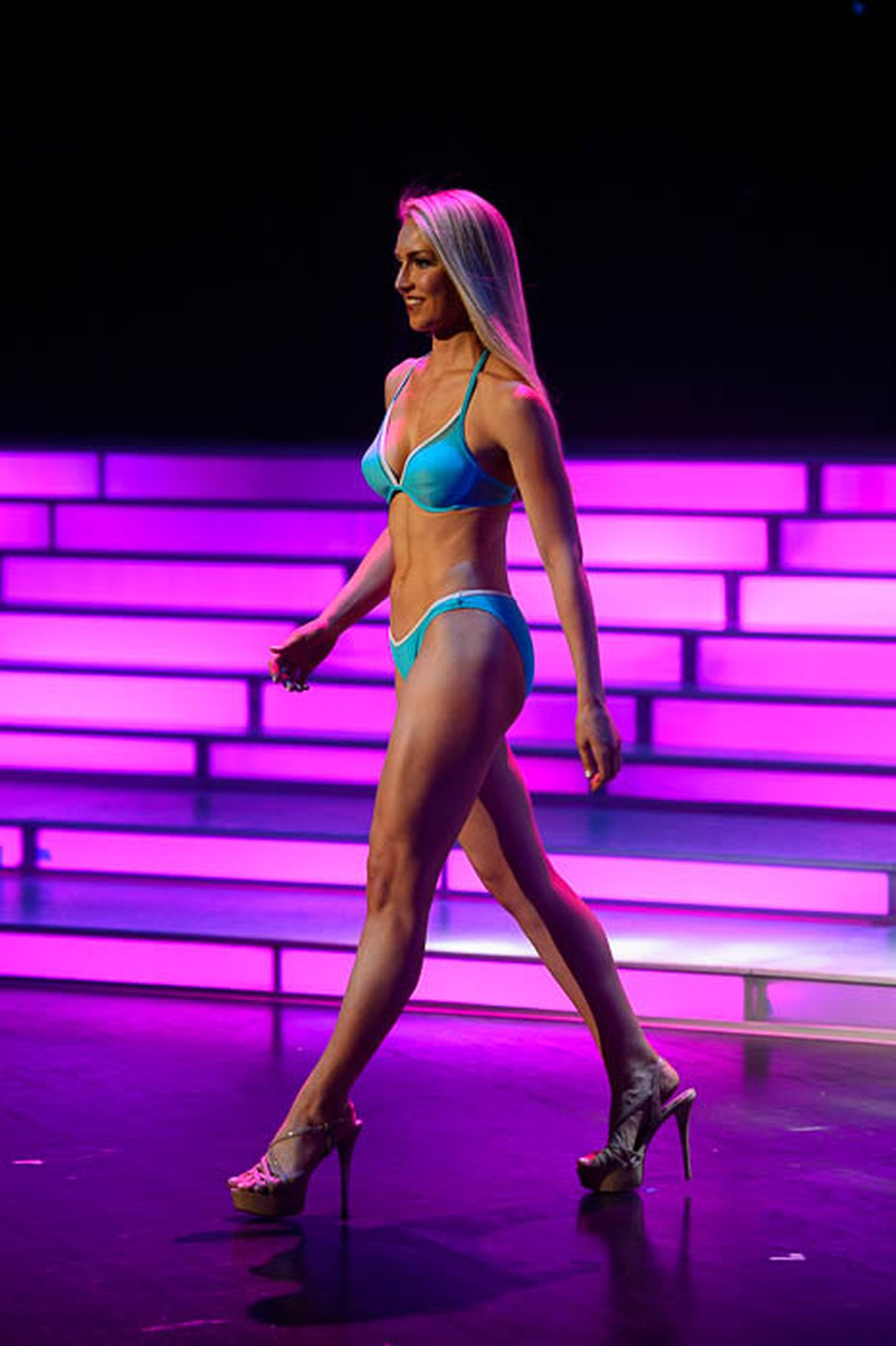 (Trent Nelson | The Salt Lake Tribune) The Lifestyle and Fitness in Swimsuit competition at the Miss Utah pageant in Salt Lake City, Wednesday June 13, 2018. Miss Timpanogos Jesse Craig.