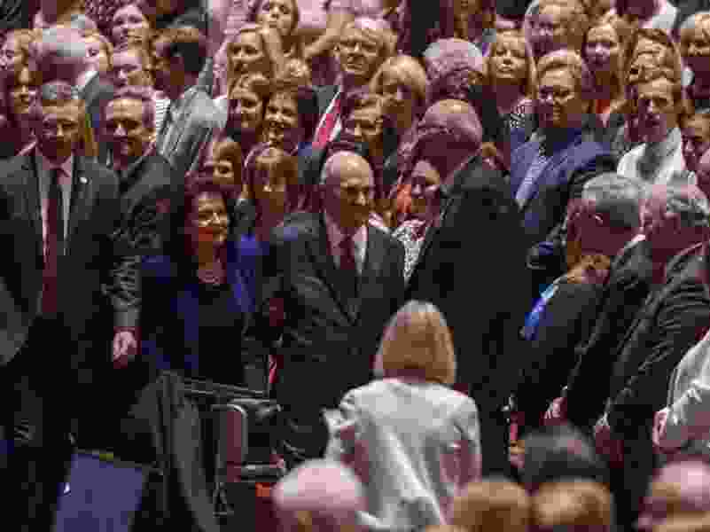 Latter-day Saints celebrate President Russell Nelson's 95th birthday in song, salute his energy, enthusiasm