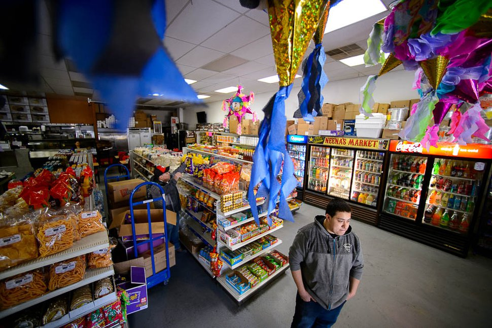 (Trent Nelson | The Salt Lake Tribune) Jose Ponce at Neena's Market in Coalville, Friday March 2, 2018.