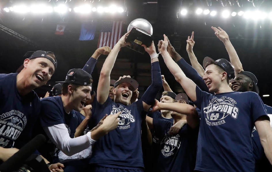 Sam Merrill hit the biggest shot in Utah State basketball history. Here is the oral history of that moment.