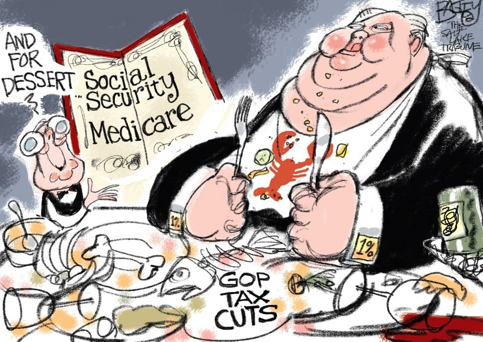 "(Pat Bagley | The Salt Lake Tribune) This Pat Bagley cartoon, titled ""Trump's BFFs,"" appears in The Salt Lake Tribune on Wednesday, Oct. 17, 2018."