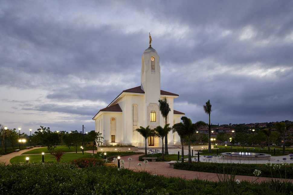 (Photo courtesy of The Church of Jesus Christ of Latter-day Saints) Temple in Durban, South Africa.