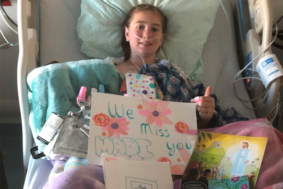 (Photo courtesy Primary Children's Hospital) Madilyn Dayton stayed at Primary Children's Hospital after developing a condition called Multisystem Inflammatory Syndrome in Children. The illness appears in some children after they have had COVID-19.
