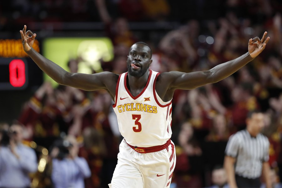 In working out for Jazz, Iowa State's Marial Shayok sees a perfect pair of examples for him to follow