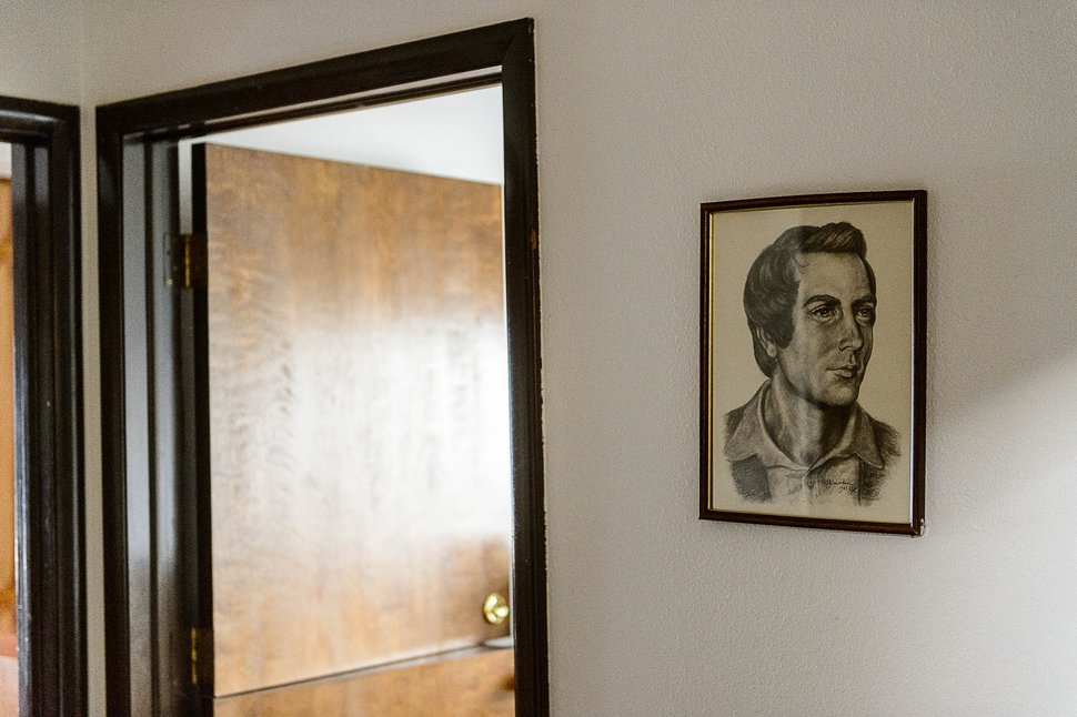 (Trent Nelson | The Salt Lake Tribune) A portrait of Joseph Smith hangs in the office at Pines Academy, Pinesdale, Mont.