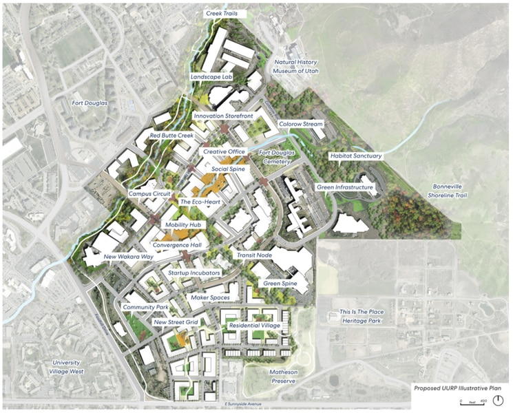 University of Utah plans major revamp of research park on Foothill Drive, adding lots of housing