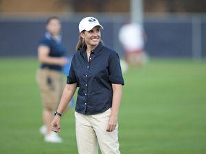 (Jaren Wilkey  |  BYU) Jennifer Rockwood is the coach of BYU women's soccer team. She is in her 16th season, building a nationally ranked program.