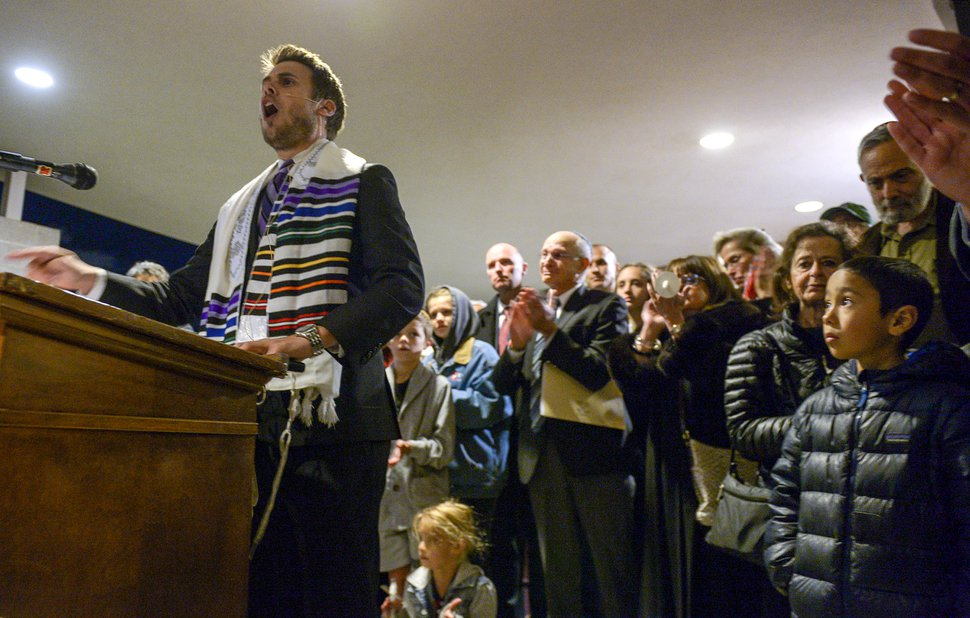(Leah Hogsten | Tribune file photo) Congregation Kol Ami Rabbi Samuel L. Spector addresses members of Utah's Jewish and interfaith communities during a vigil, song and prayer service Tuesday, Oct. 30, 2018, after 11 people were killed at the Tree of Life Synagogue in Pittsburgh on Oct. 27, 2018.
