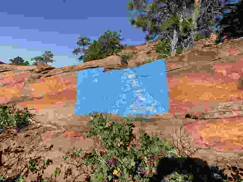 Zion National Park rangers looking for vandals who painted rocks blue
