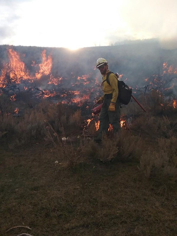 (Photos courtesy of the Uinta-Wasatch-Cache National Forest Service) Multiple fire crews responded Sunday to two fires near Strawberry Reservoir in Wasatch County, where about 80 acres to 100 acres are burning on the east side of U.S. Highway 40.