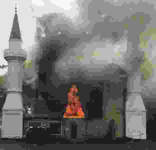 Commentary: A mosque was intentionally set on fire in the U.S. Why didn't anyone hear about it?