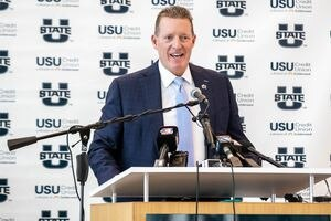 (Photo courtesy of Utah State Athletics)  Utah State Athletic Director John Hartwell has steered the Aggies to their best combined football and men's basketball seasons in school history. Now, the USU AD says he wants more.