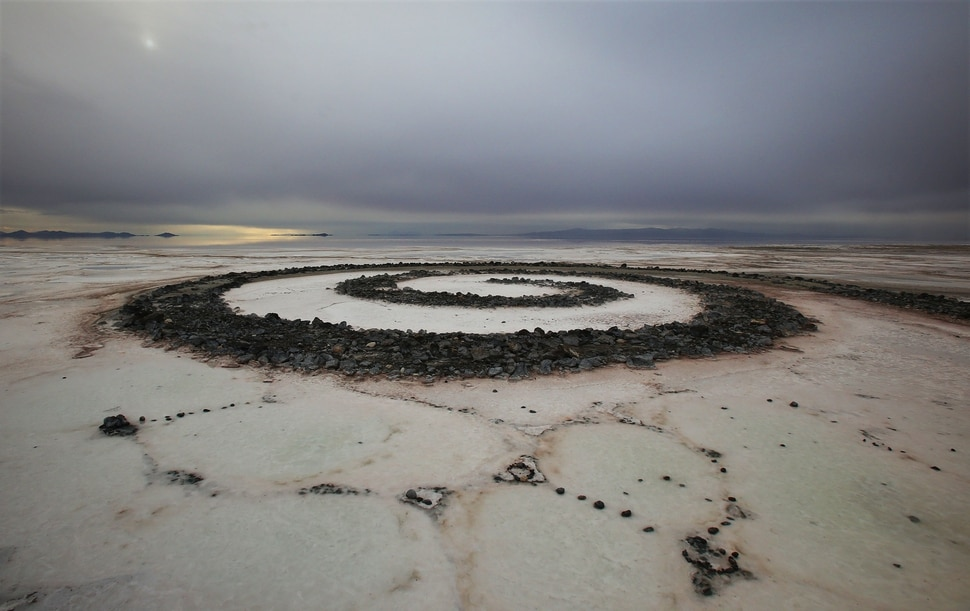 (Francisco Kjolseth | Tribune file photo) The Spiral Jetty earth works on the North edge of the Great Salt Lake created by artist Robert Smithson in 1970 is visible on Wednesday, Nov. 20, 2013.
