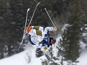 Bradley Wilson, of the United States trains during the FIS Freestyle World Cup skiing competition Thursday, Feb. 6, 2020, at Deer Valley in Park City. The event will return for the 22nd year on Feb. 4-6, making it the only U.S. stop for the series. (AP File Photo/Jeff Swinger)