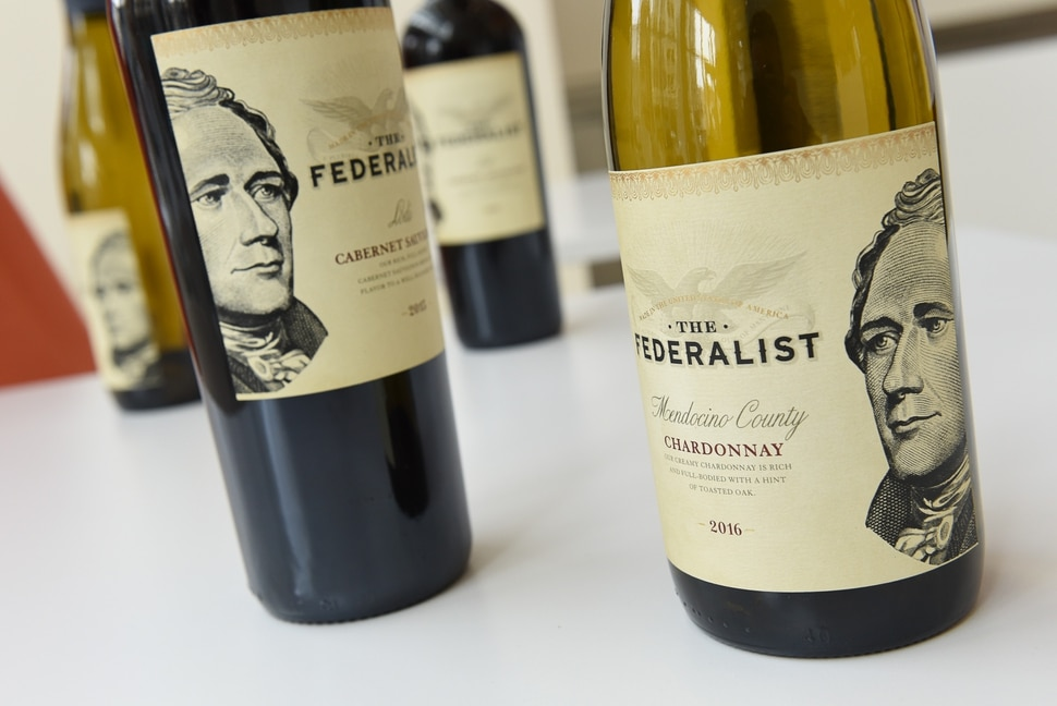 (Francisco Kjolseth | The Salt Lake Tribune) For the upcoming run of Hamilton, the Encore Bistro inside Salt Lake City's Eccles Theater has special-ordered Federalist wines with Alexander Hamilton on the label.
