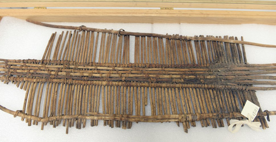 (Al Hartmann | Tribune file photo) A baby's cradleboard the BLM seized in Operation Cerberus raids that took place in Blanding in 2014. The BLM hopes to repatriate the ceremonial items to tribes and send other pieces to museums, but they have little information about where they were looted.