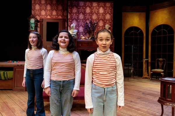 (Courtesy photograph by dav.d daniels of dav.d photography) | Actors Ava Hoekstra, Presley Caywood and Natalia Bingham who share the role of Small Alison in the musical