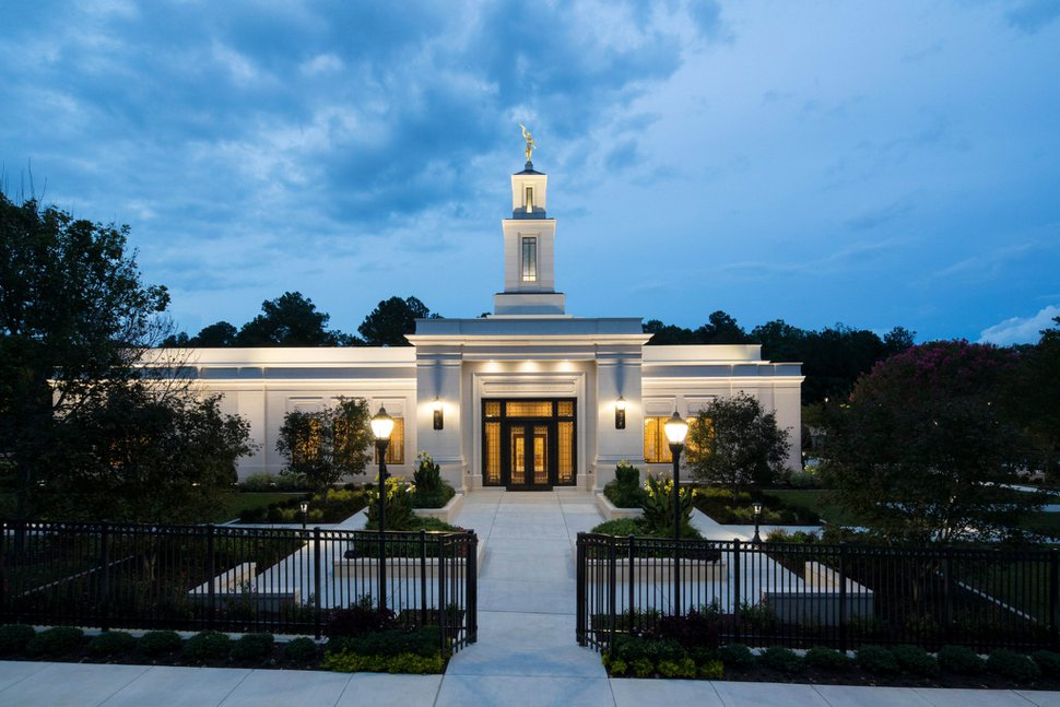 (Photo courtesy of The Church of Jesus Christ of Latter-day Saints) The Raleigh North Carolina Temple.