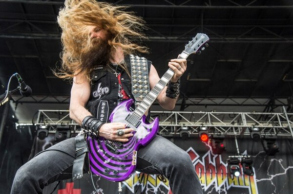 Zakk Wylde of ZAKK SABBATH performs at the Louder Than Life Festival on Sunday, Oct. 2, 2016, in Louisville, Ky. (Photo by Amy Harris/Invision/AP)