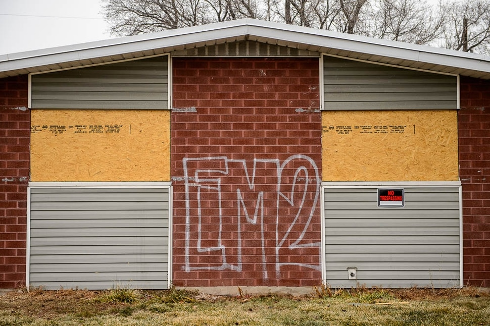 (Trent Nelson | The Salt Lake Tribune) UDOT is buying 49 homes in Midvale to widen I-15, and 24 are vacant. The neighborhood is having trouble with homeless people breaking in and trying to squat there. UDOT promises to start demolition next week. Tuesday Dec. 11, 2018.