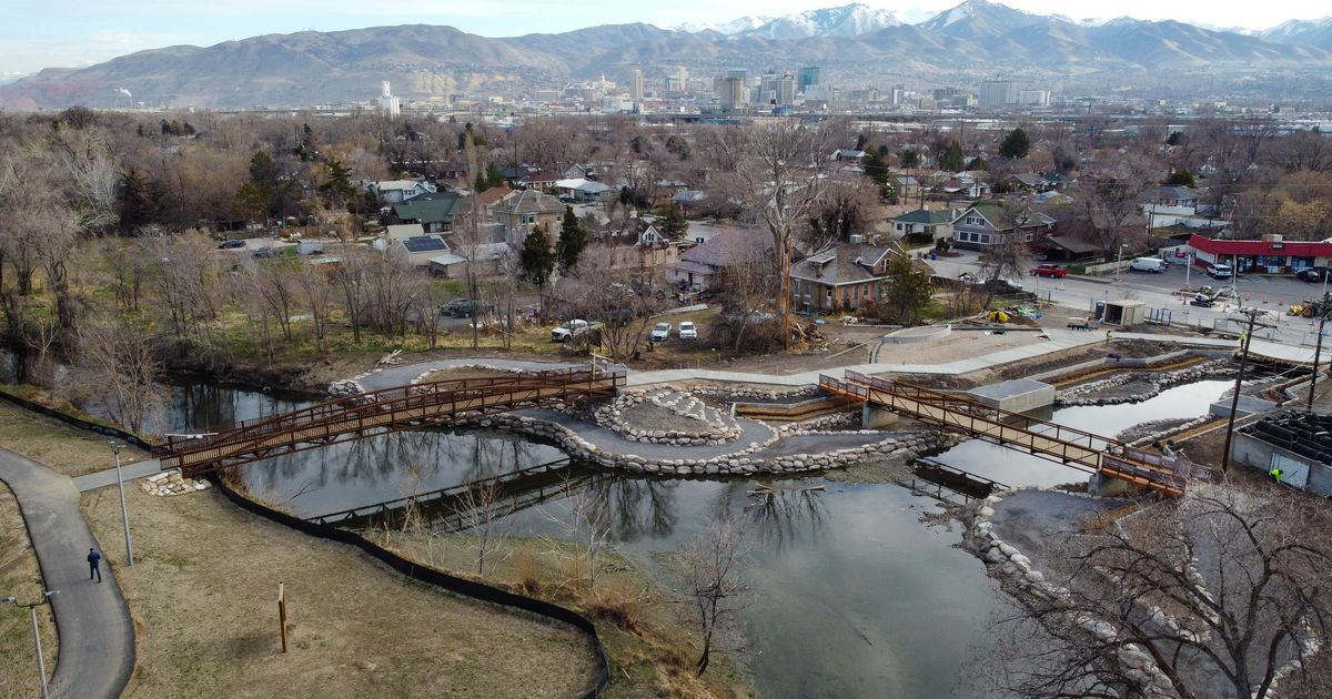 Three old streams bring one sparkling new attraction to Salt Lake City's west side