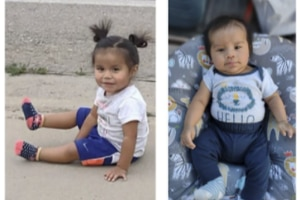(Navajo Division of Public Safety) An Amber Alert was issued Thursday night for Bailey Begay, left, and Braidin Begay.