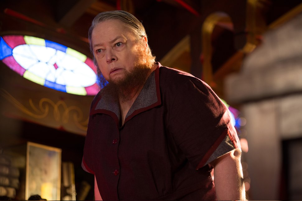 In this image released by FX, Kathy Bates appears in a scene from