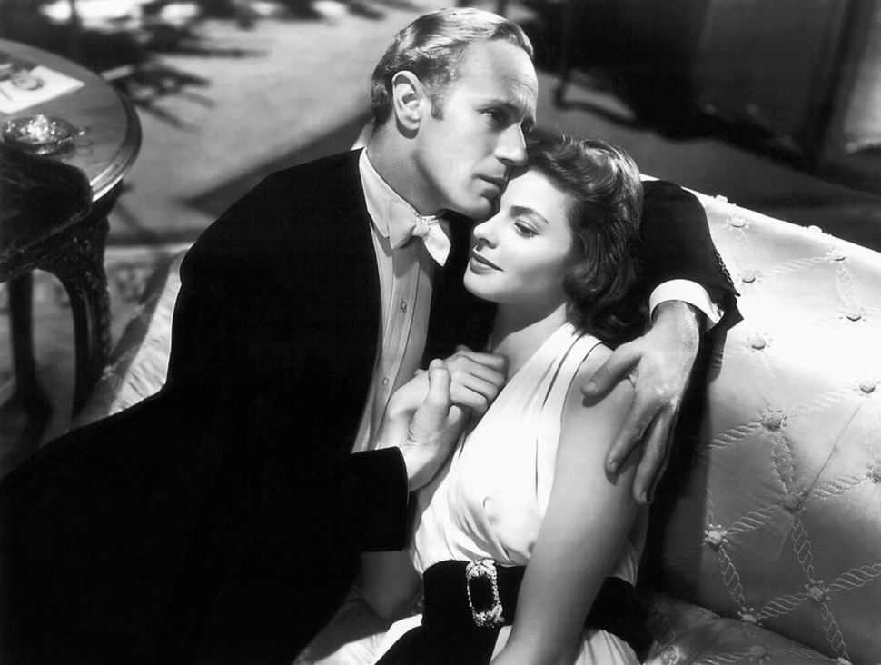 (courtesy photo) Leslie Howard (left) and Ingrid Bergman play musicians in love in the 1939 drama
