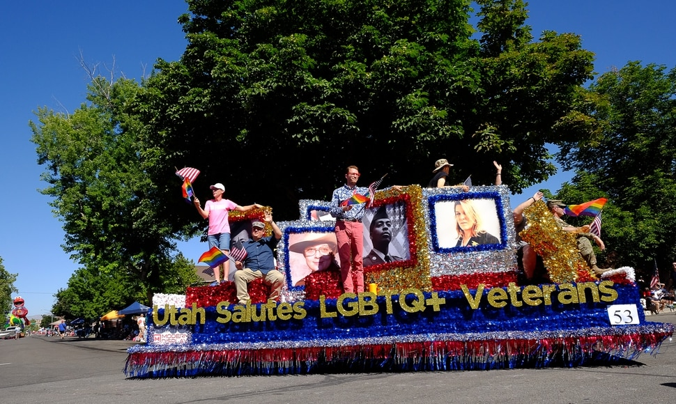 (Francisco Kjolseth | The Salt Lake Tribune) America's Freedom Festival Parade, in Provo, is finally letting freedom ring. For the first time, it is allowing three LGBTQ groups to participate in this year's July 4 event, including Mormon's Building Bridges.