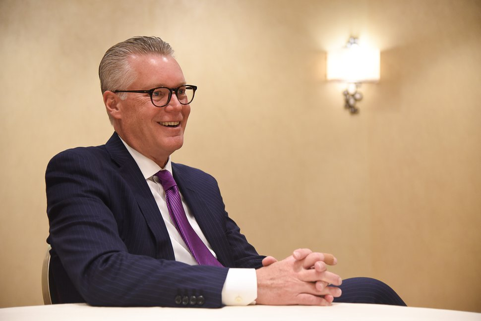 (Francisco Kjolseth | The Salt Lake Tribune) Delta Airlines CEO Ed Bastian sits down in an interview to talk about the importance of its Salt Lake City hub on Friday, Jan. 18, 2019.