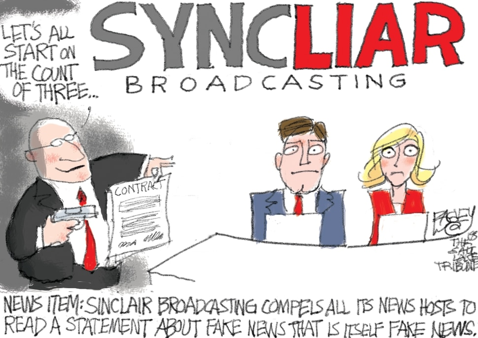 This Pat Bagley cartoon appears in The Salt Lake Tribune on Tuesday, April 3, 2018.