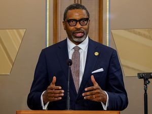 (Trent Nelson     The Salt Lake Tribune) Derrick Johnson, president and CEO of the NAACP, during the announcement of new joint initiatives with The Church of Jesus Christ of Latter-day Saints in Salt Lake City on Monday, June 14, 2021.
