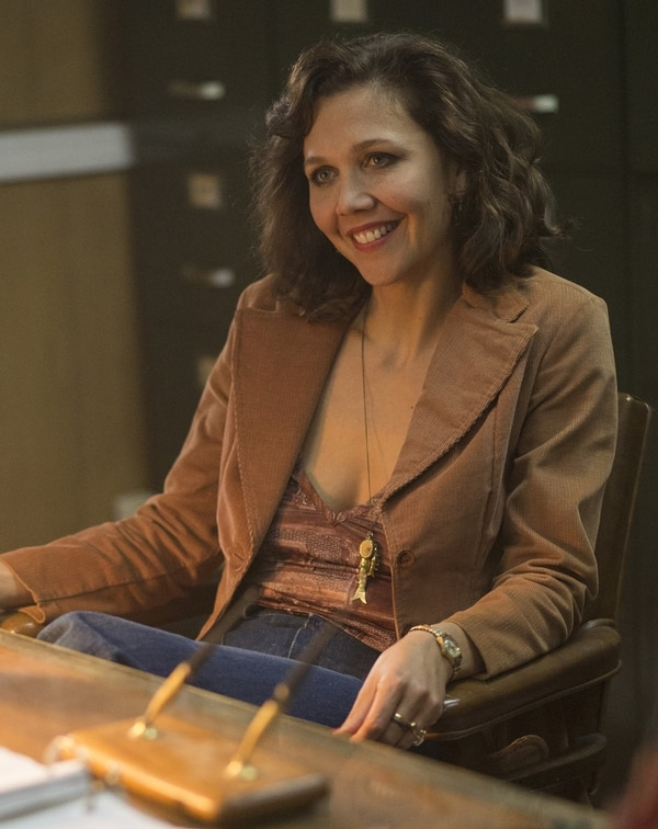 "(Photo credit: Paul Schiraldi/HBO) Maggie Gyllenhaal stars as prostitute Candy in ""The Deuce."""