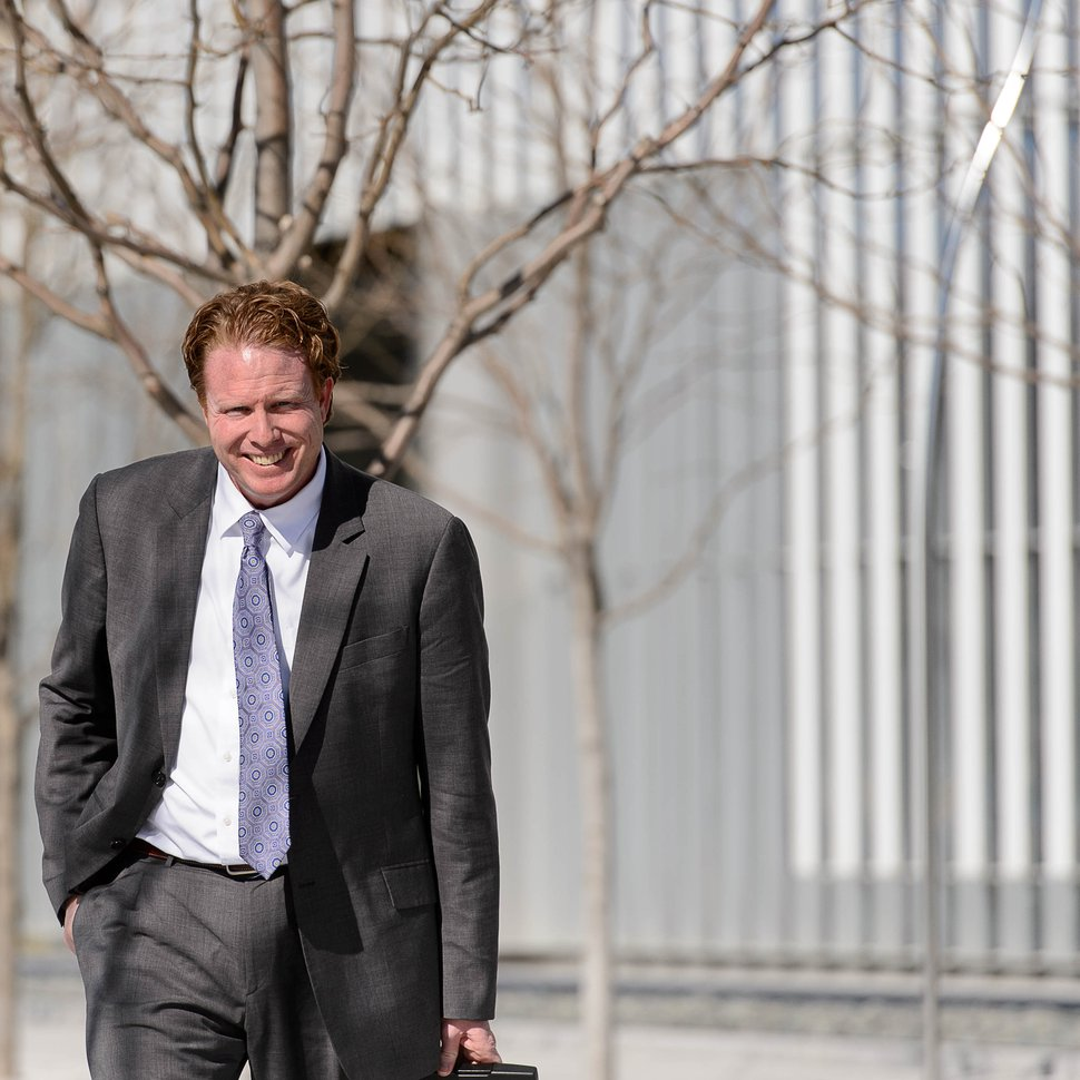 Trent Nelson | The Salt Lake Tribune Jeremy Johnson leaves the Federal Courthouse in Salt Lake City, Wednesday March 16, 2016.