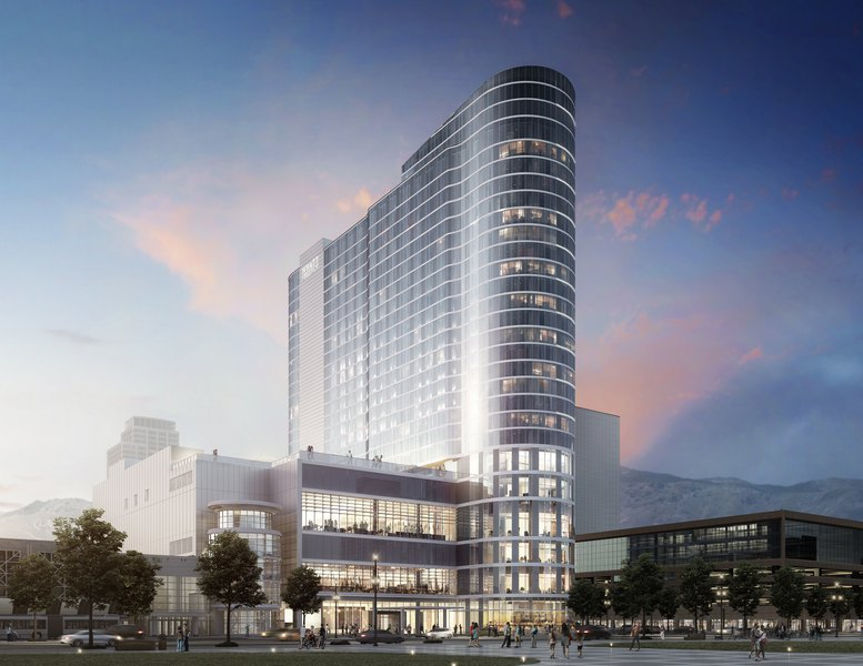 Hotels In Salt Lake City >> Salt Lake City S New 26 Story Convention Hotel To Begin