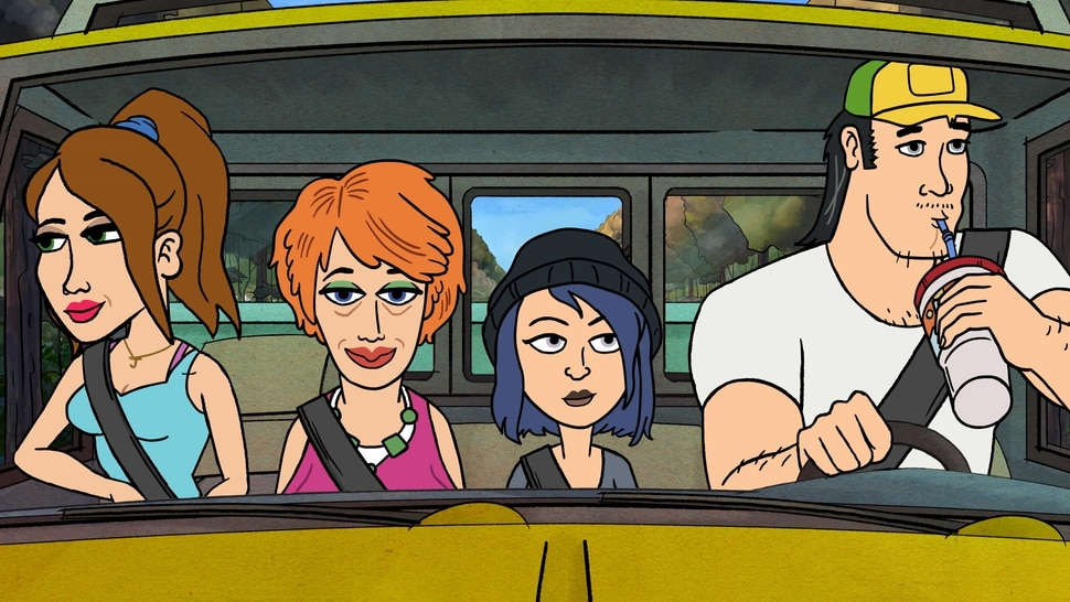 (Image courtesy of Fox) From left, Jenny (voice by Kristen Wiig), Betty (Maya Rudolph), Violet (Jillian Bell) and Wayne (Ike Barinholtz) are featured in Bless the Harts.