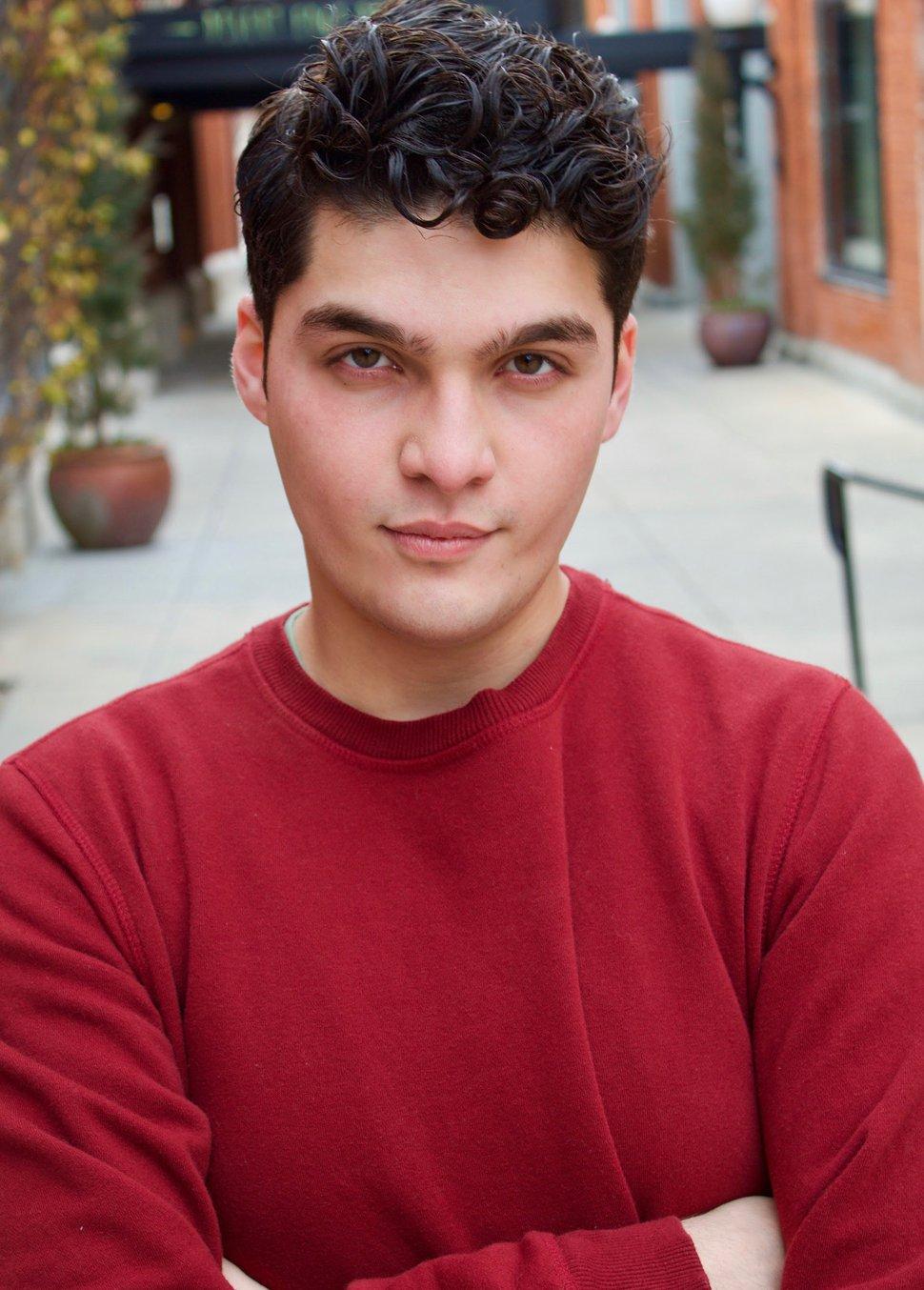 (Photo courtesy of Danny Borba) Danny Borba, 20, in a headshot taken to apply for acting roles. Borba is a rising junior in University of Utah's Actor Training Program.
