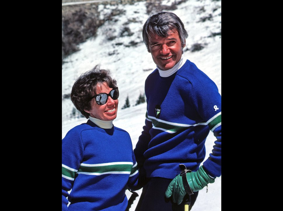 (Photo courtesy of Scott Nelson | Snowbird) Maxine Bounous, a Provo native, became one of the first women in the United States to be certified as a ski instructor. The BYU alumna nicknamed