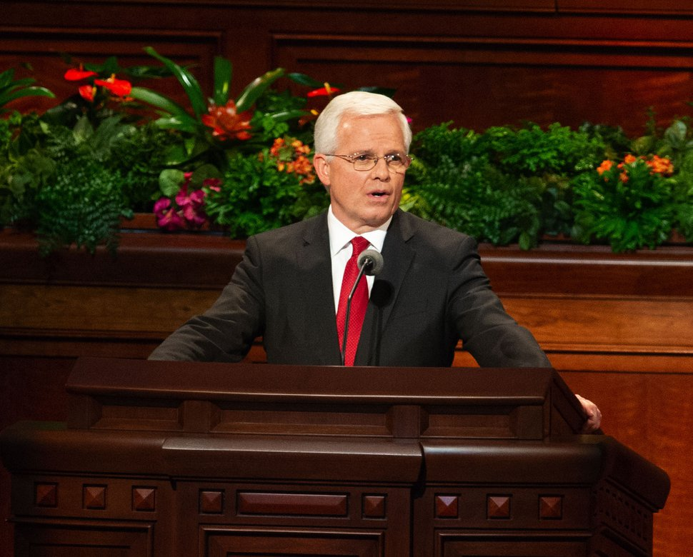 (Keith Johnson | Special to The Tribune) Elder Matthew L. Carpenter speaks during the concluding session of the 188th Semiannual General Conference of The Church of Jesus Christ of Latter-day Saints on Oct. 7, 2018, in Salt Lake City.