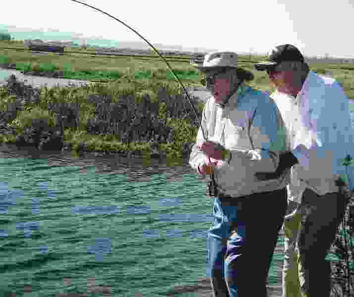 Fishing with a Mormon prophet — the adventures of Tom (Monson) and Jon (Huntsman)