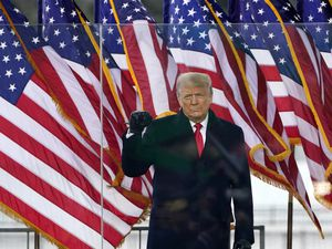 (Jacquelyn Martin | AP file photo)  President Donald Trump arrives to speak at a rally Wednesday, Jan. 6, 2021, in Washington.