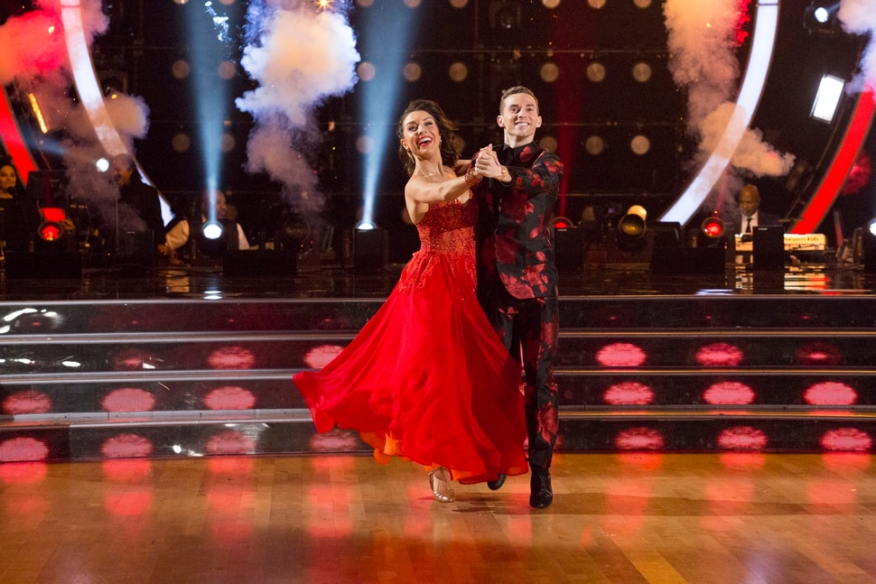 """(Photo: Kelsey McNeal/ABC) Jenna Johnson and Adam Rippon compete on """"Dancing with the Stars."""""""