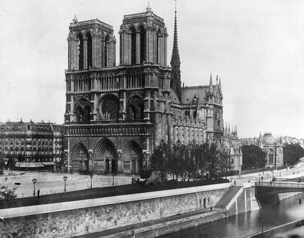 The Cathedral of Notre Dame, Our Lady, on the island called Ile de la Cite in Paris, France, is shown in 1911. (AP Photo)