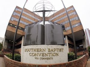 (AP Photo/Mark Humphrey) This Wednesday, Dec. 7, 2011 photo shows the headquarters of the Southern Baptist Convention in Nashville, Tenn.