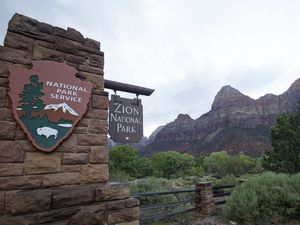 (Rick Bowmer | AP file photo) This Sept. 15, 2015, file photo, shows Zion National Park near Springdale, Utah. More people are renting RVs for their getaways amid the coronavirus pandemic.