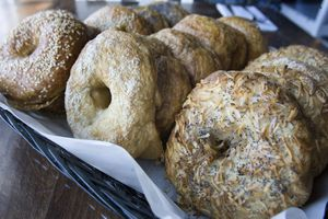 (Paul Fraughton     Tribune file photo) One of the favorite items at Feldman's Deli are the housemade bagels.